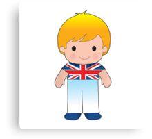 Poppy British Boy Canvas Print