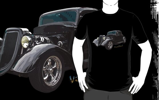 34 Ford Coupe in Black T-Shirt by ChasSinklier