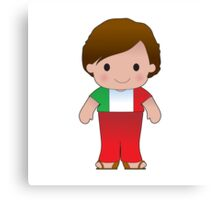 Poppy Italian Boy Canvas Print