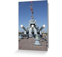 USS North Carolina Greeting Card