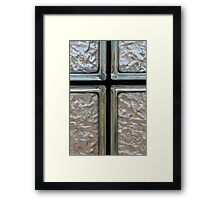 Glass Block Intersection Framed Print