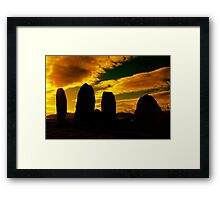 """""""Temple Of The Ancients"""" Ancient Structures of Ireland Framed Print"""