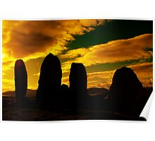 """Temple Of The Ancients"" Ancient Structures of Ireland Poster"
