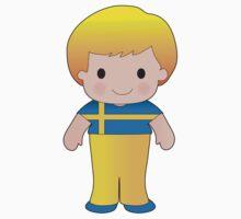 Poppy Sweden Boy One Piece - Short Sleeve
