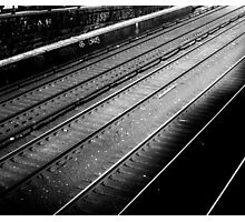 Empty train tracks Photographic Print