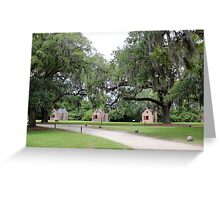 Slave Cabins Greeting Card