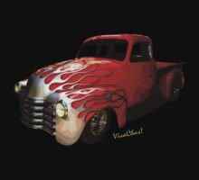 Flaming Chevy Pickup T-Shirt! by ChasSinklier