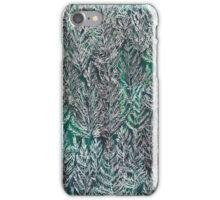 Snow Pines (Dark Green) iPhone Case/Skin