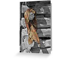Wild Rag & Leather Gloves Greeting Card