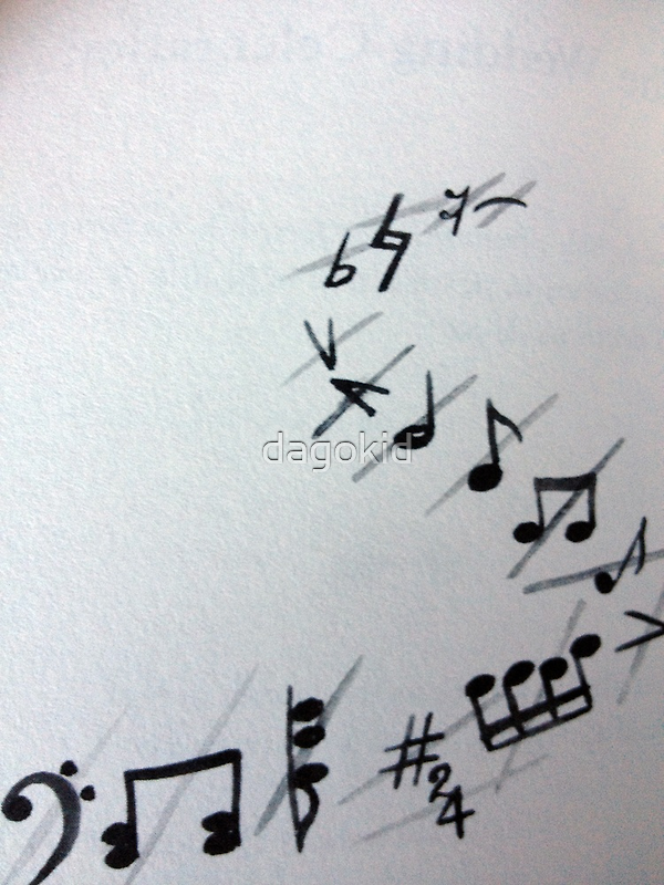 MUSICAL NOTES GREETING CARD by dagokid
