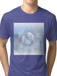Snow globe with map Tri-blend T-Shirt