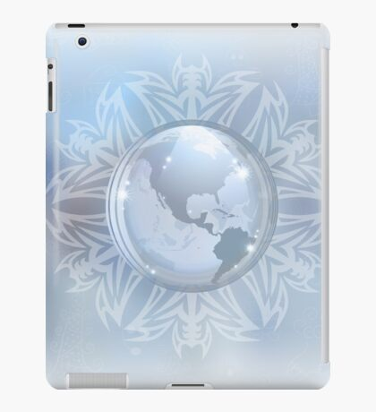 Snow globe with map iPad Case/Skin