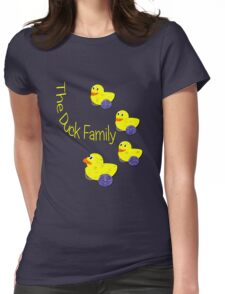 The Duck Family T-shirt Womens Fitted T-Shirt