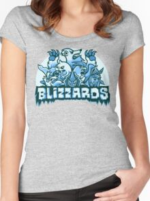 Team Ice Types - Blizzards Women's Fitted Scoop T-Shirt