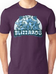 Team Ice Types - Blizzards Unisex T-Shirt