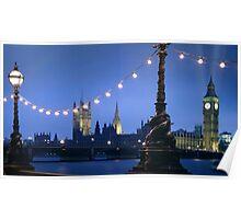 Big Ben London at Dusk Poster