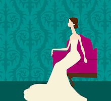 Bride Sitting in Chair by mellabeads