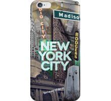 New York City [green] iPhone Case/Skin