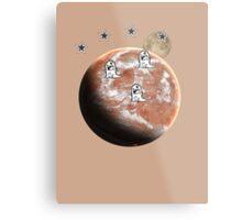 Little monsters on Mars  Metal Print