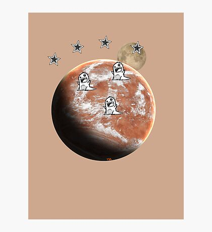 Little monsters on Mars  Photographic Print