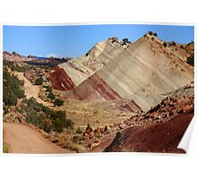 """Red Striped Desert"" Utah Desert Landscape Poster"