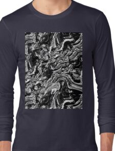 Black and white marble texture Long Sleeve T-Shirt