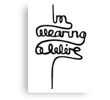 wearing a wire Canvas Print