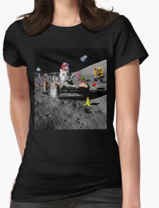 Mario in Space Womens Fitted T-Shirt
