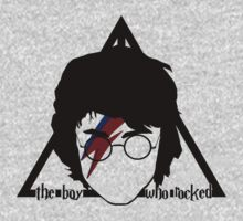 The boy who rocked// deathly hallows Kids Tee