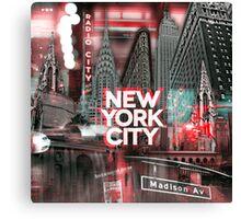 New York City [red] Canvas Print