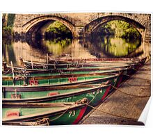 Boats on nidd Poster