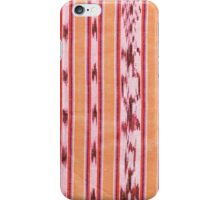 Orange and red ikat iPhone Case/Skin