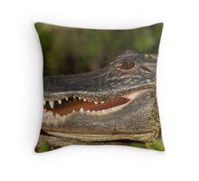 Alligator at Wekiwa Springs Throw Pillow
