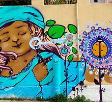 Street Art Valparaiso Chile 2 by Kurt  Van Wagner