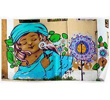 Street Art Valparaiso Chile 2 Poster