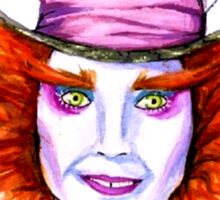 Mad Hatter Watercolor Sticker