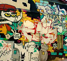 Street Art Valparaiso Chile 5 by Kurt  Van Wagner