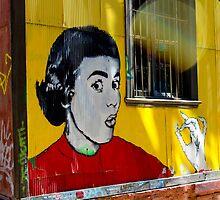Street Art Valparaiso Chile 6 by Kurt  Van Wagner