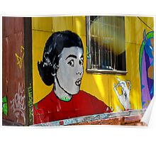 Street Art Valparaiso Chile 6 Poster