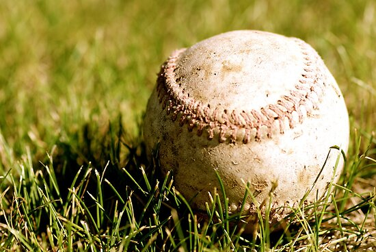 Old Baseball in the Grass by CaptainAussum