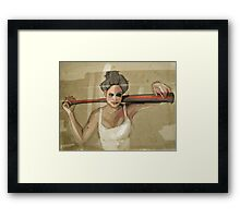 bad girls always want to play Framed Print