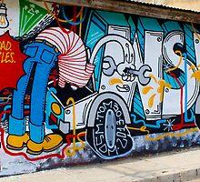 Street Art Valparaiso Chile 12 by Kurt  Van Wagner