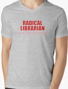 Radical Librarian (Red) - Borrowing History privacy Mens V-Neck T-Shirt