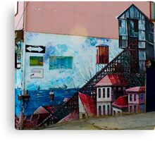 Street Art Valparaiso Chile 13 Canvas Print