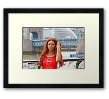 Amy Childs from the only way is Essex programme Framed Print