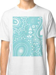 Paisley Turquoise Classic T-Shirt