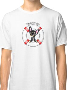Chihuahua Smooth Black/Tan :: First Mate Classic T-Shirt