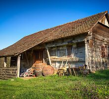 Old and abandoned wooden house by Mario Cehulic