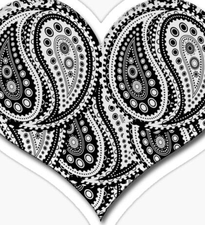 Paisley Yin Yang Heart Sticker