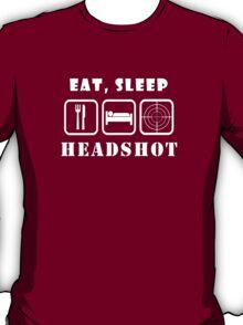 Eat, Sleep Headshot T-Shirt